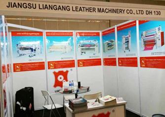 2015年5月,江苏连港皮革机械现身印尼雅加达国际皮革博览会